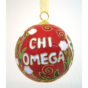 ChiO Round Color Ornament