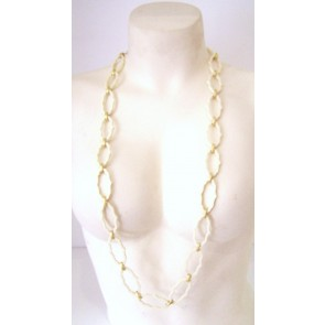 cartouche necklace cream