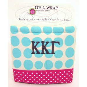 Embroidered Can Koozie - Kappa Kappa Gamma