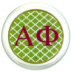 APhi Decoupage Coaster - Green Trellis