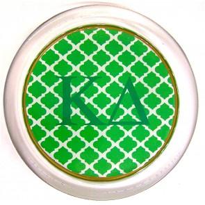 KD Decoupage Coaster - Green Trellis