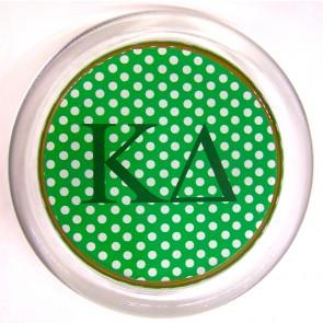 KD Decoupage Coaster - Green Polka Dot