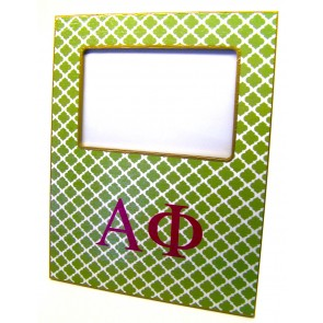 APhi Decoupage Picture Frame - Green Trellis