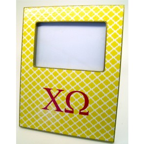 ChiO Decoupage Picture Frame - Yellow Trellis