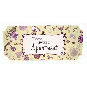Mini Wall Plaque - Home Sweet Apartment