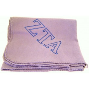 Embroidered Fleece Blanket - Zeta Tau Alpha