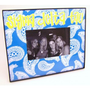Paisley Picture Frame - Sigma Delta Tau