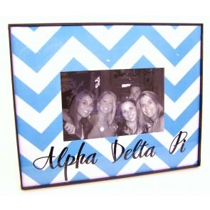 Chevron Picture Frame - Alpha Delta Pi