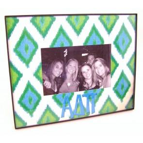 Ikat Picture Frame - Alpha Delta Pi