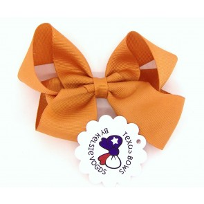 Solid Orange Fancy Bow