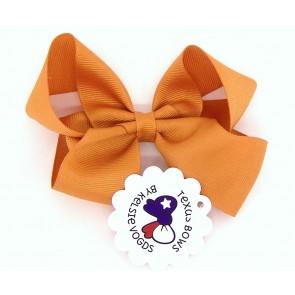 Solid Orange Fancy Bow