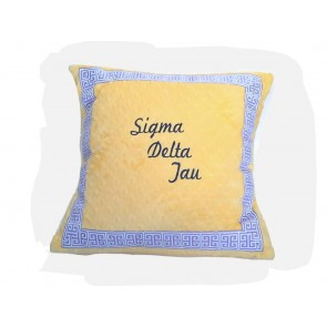 Sigma Delta Tau Super Soft Minky Dot Pillow