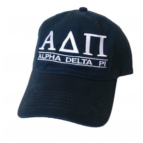 Embroidered Navy Sorority Letter Hat