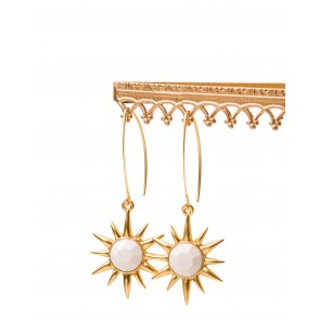 Spartina 449 Starburst Earrings - Cream