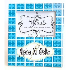 Greek Key Frame - Alpha Xi Delta