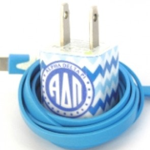 Alpha Delta Pi Phone Charger for iPhone 4 & 5, and Android