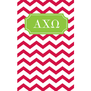 Alpha Chi Omega Chevron May Book Notebook
