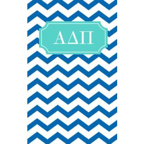 Alpha Delta Pi Chevron May Book Notebook