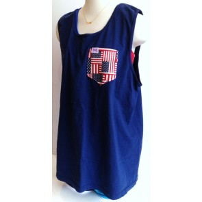 american flag pocket tank