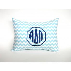 Alpha Delta Pi Chevron Pillow