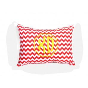 Chi Omega Monogram Chevron Travel Pillow