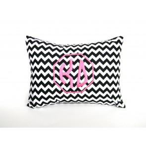 Kappa Delta Monogram Chevron Travel Pillow