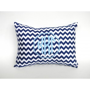 Kappa Kappa Gamma Monogram Chevron Travel Pillow