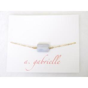 Lavender Chalcedony Bracelet by A. Gabrielle Designs