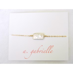 Rectangular Freshwater Pearl Bracelet by A. Gabrielle Designs