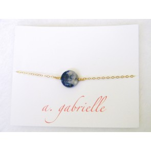 Sodalite Circle Bracelet by A. Gabrielle Designs