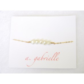 Pearl Strand Bracelet by A. Gabrielle Designs