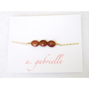 Goldstone Bracelet by A. Gabrielle Designs