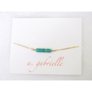 Turquoise Rounds Bracelet by A. Gabrielle Designs
