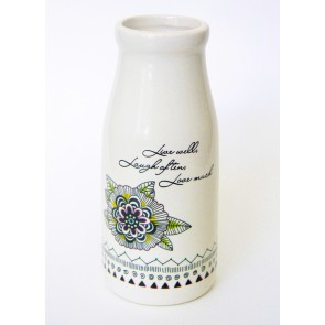 Ceramic Vase - Live Laugh Love
