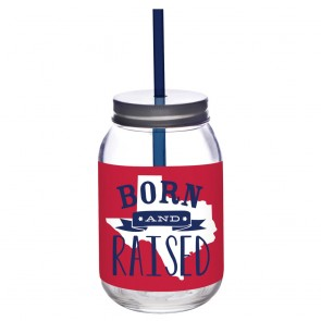 24oz Glass Mason Jar - Born and Raised