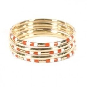 Burnt Orange Game Day Bangle Stack
