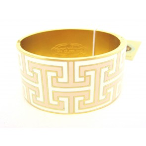 Spartina 449 Greek Key Hinged Bangle - Cream