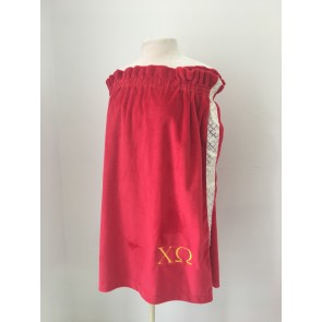 Plush Embroidered Sorority Towel Wrap