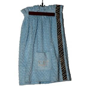 SDT Plush Minky Dot Towel Wrap