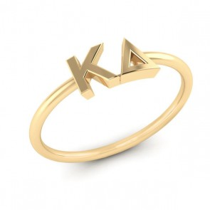 Sorority Letters Thin Band Ring
