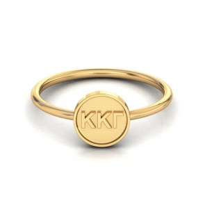 Sorority Letters Disk Ring