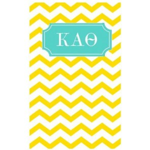 Kappa Alpha Theta Chevron May Book Notebook