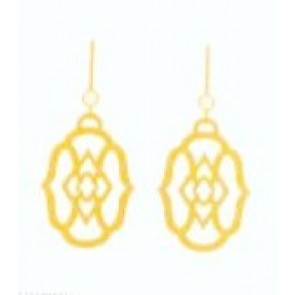 Spartina 449 Gold Lace Medallion Earrings