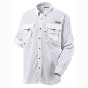 Columbia PFG Bahama II Long Sleeve Shirt - White
