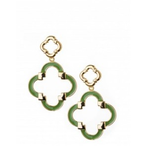 Spartina 449 Quatrefoil Earrings - Green