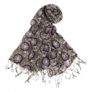 Rockflowerpaper Suzani Purple Scarf