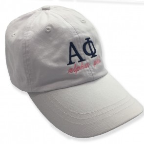 Embroidered White Sorority Letter Hat