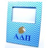 ADPi Decoupage Picture Frame - Blue Chevron